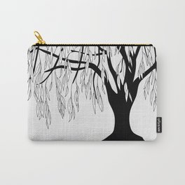 weeping willow on the gray background Carry-All Pouch