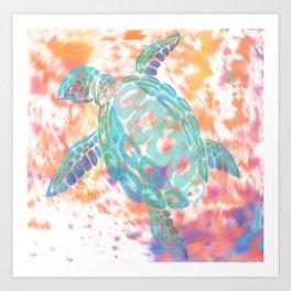 Turtle Pink Art Print