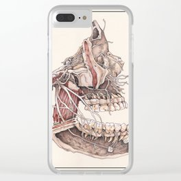 Anatomical Study of the Human Face Clear iPhone Case