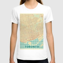Toronto Map Retro T-shirt