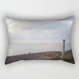 Galveston Bay at dusk Rectangular Pillow