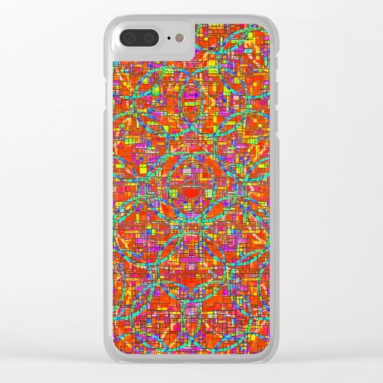 Verre Colore Pattern Clear iPhone Case