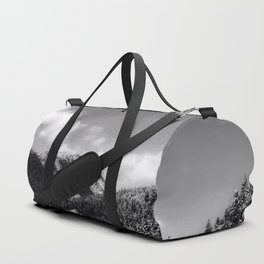 Big Sky Country - Black And White Duffle Bag