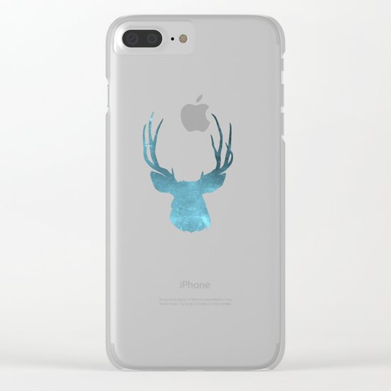 Deer head and stag simple illustration Clear iPhone Case
