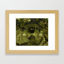 Black Cat Dancing Framed Art Print