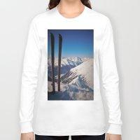 ski Long Sleeve T-shirts featuring ski by ViiGlory