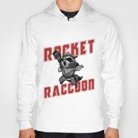 rocket raccoon Hoodies featuring The Raccoon by Twinky Wood