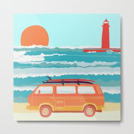 surf mobile Metal Print