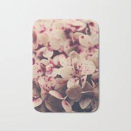 hydrangea - pink freckles Bath Mat