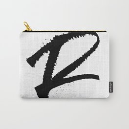 Letter R Ink Monogram Carry-All Pouch
