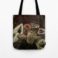 helen Tote Bags featuring Helen Vaughan by Sandpaperdaisy