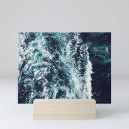 DARK BLUE OCEAN Mini Art Print