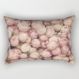 Flower Market 1 - Pink Roses  Rectangular Pillow
