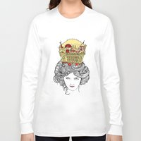 montreal Long Sleeve T-shirts featuring The Queen of Montreal by Jesse Robinson Williams