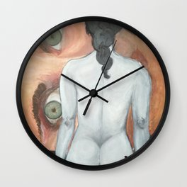 Red paintbrush Wall Clock