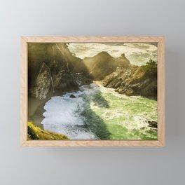 Wallpaper California USA Monterey County Mcway Fal Framed Mini Art Print