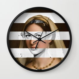 Raphael's Woman with a Veil & Hedy Lamarr Wall Clock
