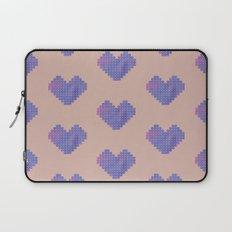 Heart X Purple Laptop Sleeve