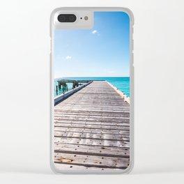 Turks and Caicos beach pier Clear iPhone Case