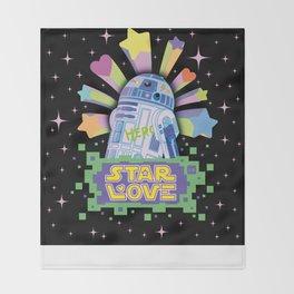 R2-D2 Star Love Throw Blanket