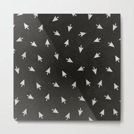 Vintage Computer Arrows (BLACK) Metal Print