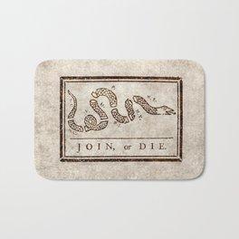 Join or die Bath Mat