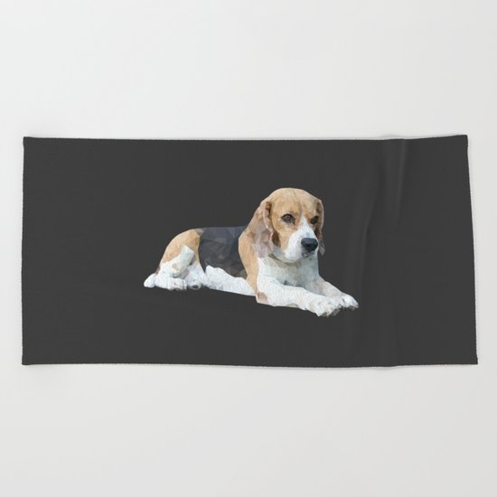 Beagle Dog #3 Beach Towel