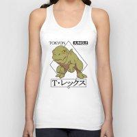 t rex Tank Tops featuring T-rex by tokyon