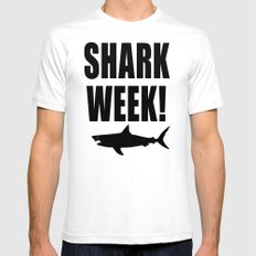 Shark week (on white) SMALL Mens Fitted Tee White