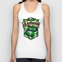 slytherin Tank Tops featuring Slytherin Crest by AriesNamarie