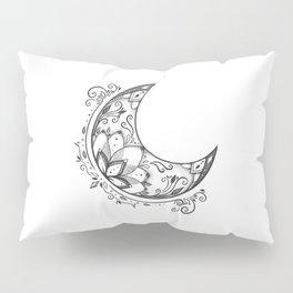 Ornamental Crescent Moon Lotus Pillow Sham