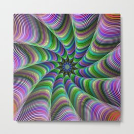 Striped tentacles Metal Print