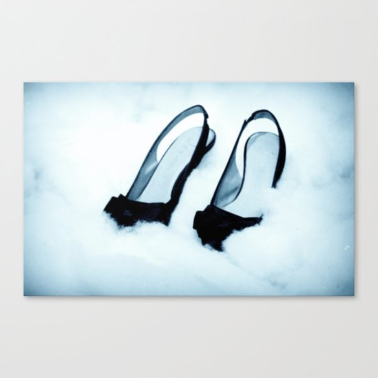 it's cold outside Canvas Print