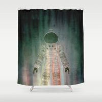 ripley Shower Curtains featuring Spacesuit Alien by avoid peril