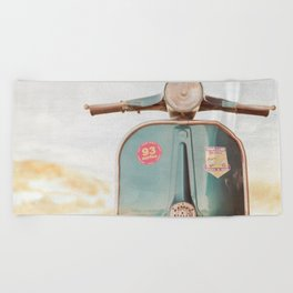 The Blue Vespa Beach Towel