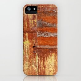 Rusty metal wall surface iPhone Case