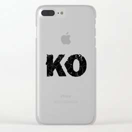 knock out KO Clear iPhone Case