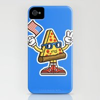 Pizza Party Slim Case iPhone (4, 4s)