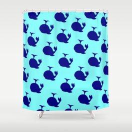 Little Whale (blue 2) Shower Curtain