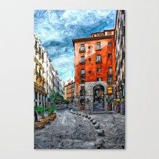 Old Historic Corner - Madrid Canvas Print