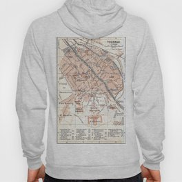 Vintage Map of Tournai Belgium (1905) Hoody