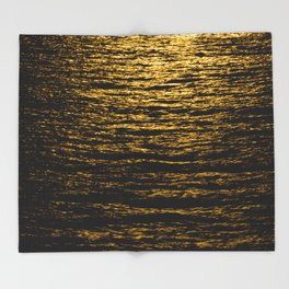The Goldsoundwaves 2 Throw Blanket