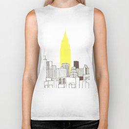 New York Empire State Building Biker Tank