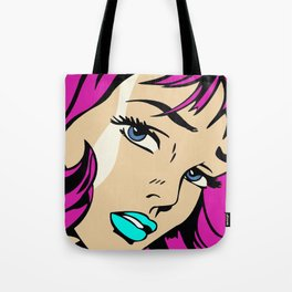 A roughly vectorised and reworked Roy Lichtenstein Tote Bag