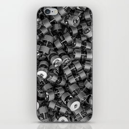 Chrome dumbbells iPhone Skin