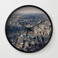 toronto Wall Clocks featuring Toronto by Nick De Clercq