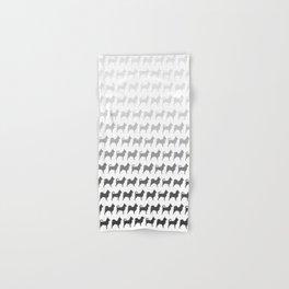 Chihuahua Silhouettes Pattern Hand & Bath Towel