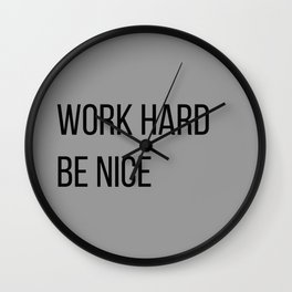 The Motivational Quote II Wall Clock