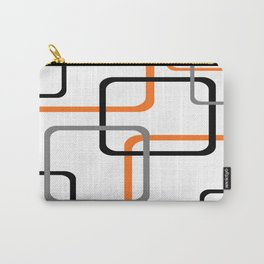 Geometric Rounded Rectangles Collage Orange Carry-All Pouch