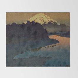 Sunset at Aga Throw Blanket